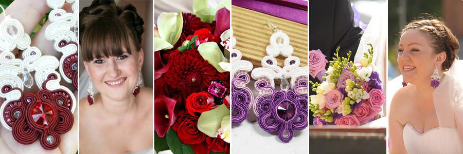 """Kolekcja biżuterii ślubnej sutasz """"Lilac Wedding"""""""