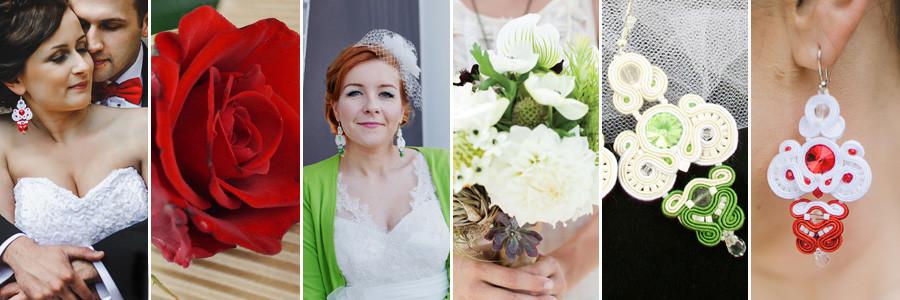 """Kolekcja biżuterii ślubnej sutasz """"Red & Green Wedding"""""""